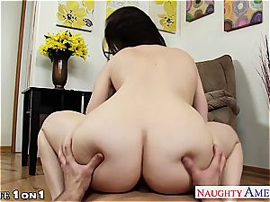 exquisite Dana DeArmond in point of view fellating a humungous erection