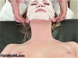 FantasyMassage Bailey Brooke On Top of masseurs hard-on!