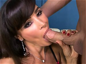 Lisa Ann takes this hard meatpipe down her slippery throat