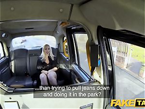 faux taxi blondie mummy Victoria Summers poked in a taxi