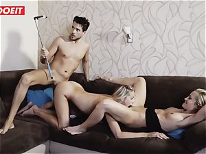 Hungarian sizzling babe Gets Rebound lovemaking With Spanish couple