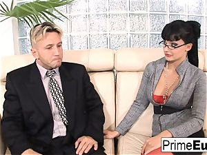 Aletta Ocean gets anally pulverized on the couch