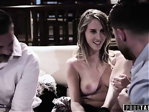 pure TABOO babe Tricked Into revenge threesome with Strangers