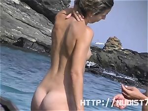 Some babes on a nudist beach
