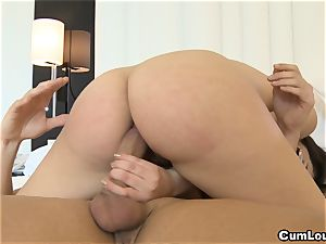 Valentina Nappi riding rock hard man sausage up her ass hole