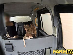 faux taxi ass licking suntanned babe with lil' pink honeypot