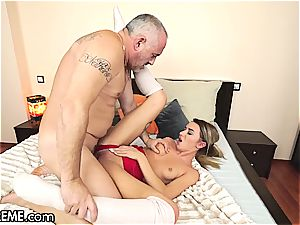 Ballerina Anna Thorne gets a dose of the grandpa penis