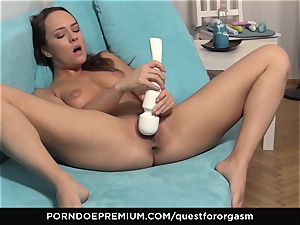QUEST FOR climax - Blue Angel electro-hitachi induced ejaculations