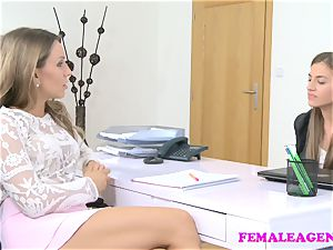 FemaleAgent tattooed babe fucked with fuck stick