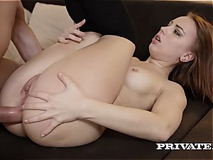 ultra-kinky student Kira Thorn Takes an rectal...