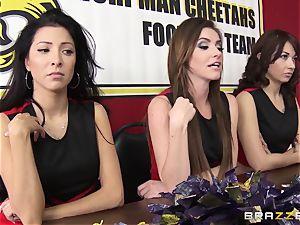 Mean cheerleaders gang bang August Ames