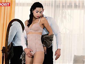 LETSDOEIT - horny couple Has Retro dream harsh sex
