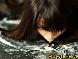 japanese Marica Hase getting bukkake at the gloryhole