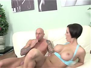 Dylan Ryder bounces her humid gash on this hard trouser snake